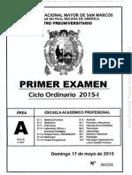 1 examen pre san marcos con clave 2015