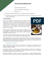 Extraccion de Aceite de Oliva