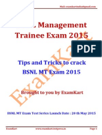 Strategy Guide to Crack BSNL Management Trainee Exam 2015(1)
