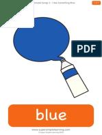 i See Something Blue Flashcards
