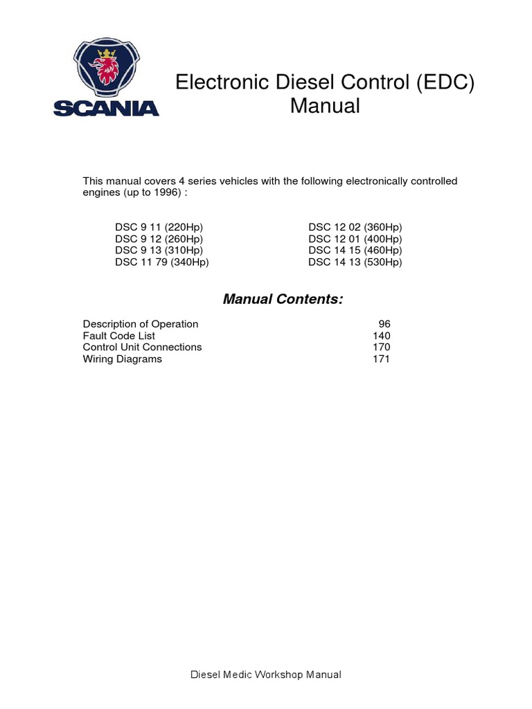 8654002 scania 4 series electronic diesel control edc manual rh scribd com