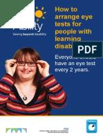 Learning Disability Eye Test Leaflet