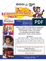 Family Fun Day event at Dodd Stadium rescheduled for Sunday, July 19, 2015