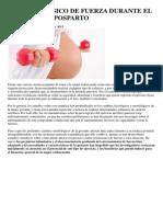 Ejercicio Físico de Fuerza Durante El Embarazo y Posparto
