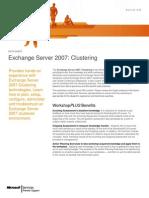 WorkshopPLUS - Exchange Server 2007 Clustering