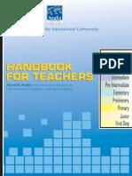 Teacher Handbook 2010 Anglia Accentis