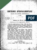 Conférence interparlementaire, séance du 29 juin 1889
