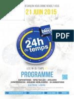 Programme des 24h du temps 2015
