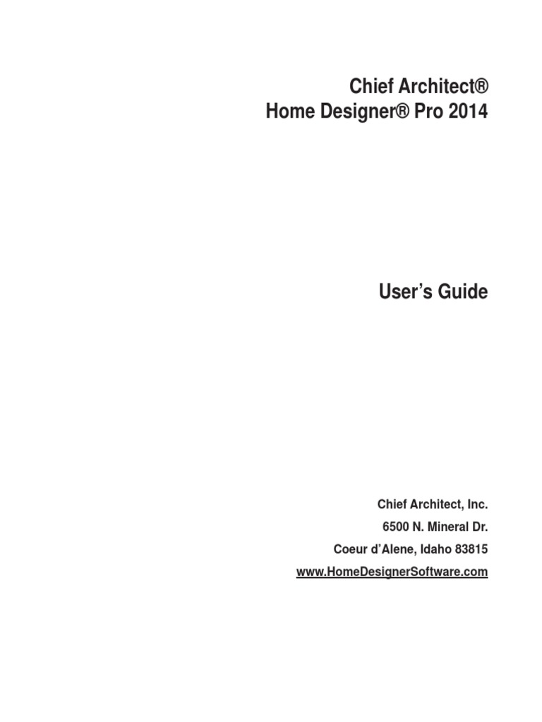 Home designer pro 2014 users guide installation computer programs 108 views