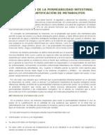 Diagnóstico de la permeabilidad intestinal por cuantificación de metabolitos