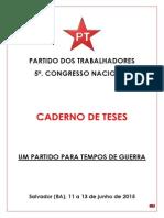Tese Articulação de Esquerda 5º Congresso PT