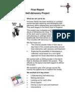 Final Report Self Advocacy