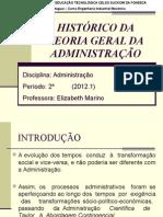 Aula - Teoria Geral da Administração
