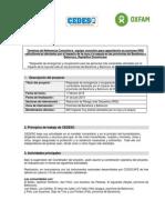 TdR capacitación en acciones RRD caficultores/as afectados/as por el impacto de la roya y la sequía en las provincias de Barahona y Bahoruco, República Dominicana