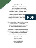 Poesia Coral Cuauhtemoc
