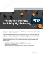 10 Leadership Techniques for Building High Performing Teams