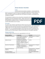 Operational Readiness Review Checklist