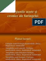 2.Afectiunile Acute Si Cronice Ale Faringelui