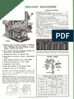 Especificaçõe da Fresadora Atlas