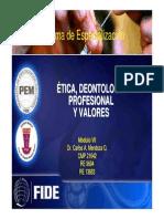 Diapositivas de Salud Ocupacional y Medicina Del Trabajo Modulo Vii- Etica Deontologia