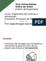 Processos de Fabricação - Torneamento