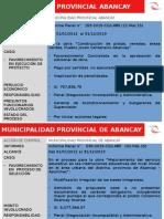 Casos de municipalidades en Apurímac