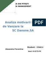 Analiza Fortei de Vanzare La SC Danone