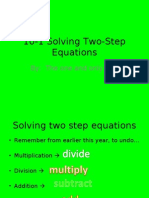 10-1 Solving Two-Step Equations