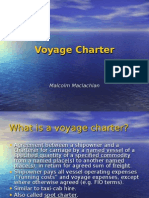 Voyage Charter F