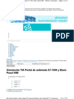 Simular S7-1500 + KTP
