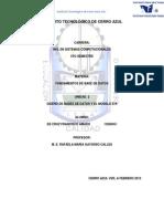 Francisco Unit Dos Actividades  es para complenetar la unidad 2 de base de datos para reconocer su indentidadd