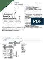 Vocabulario. Introducción a La EconomíaTema 1