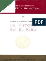 02 La Historia en El Perú - Riva-Agüero