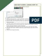 Cara Mengubah Boot Screen ( Loading Start Up) Windows 7 Tanpa Menggunakan Software
