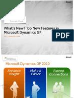 Dynamics GP 2010 What's New