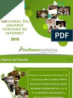 Arellano - Estudio Nacional Del Consumidor Peruano 2015 - Internet