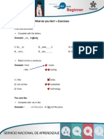 PDF Exercises What Do You Like