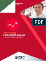 CURSO PRESENCIAL Presupuesto Público 2015 - Inicio 10 de junio