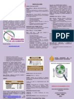 Triptico de Microbiologia de Los Alimento y Brote de Eta