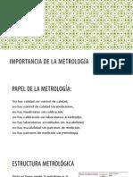 Importancia de La Metrologia