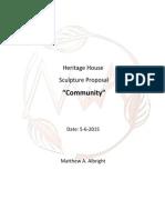 Heritage House Sculpture Proposal