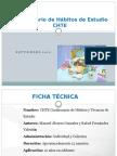 Cuestionario de Hábitos de Estudio CHTE IFB 2012