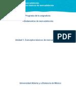 Unidad 1. Conceptos Básicos de Mercadotecnia