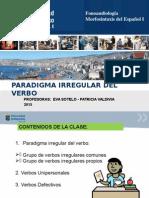 Paradigma Irregular Verbos unipersonales defectivos Ejercicios Estudiantes
