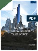 Central Park Sunshine Report