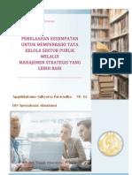MEMPERBAIKI TATA KELOLA SEKTOR PUBLIK MELALUI MANAJEMEN STRATEGIS YANG LEBIH BAIK - Terjemahan Artikel - Aga