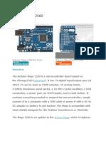 Datasheet Arduino Mega 2560