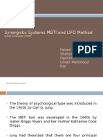 Synergistic Systems MBTI and LIFO Method