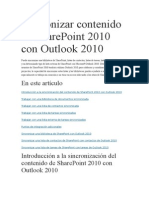 Sincronizar Contenido de SharePoint 2010 Con Outlook 2010