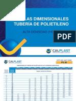 Tablas Dimensionales de Tubería Calplast de Polietileno de Alta Densidad